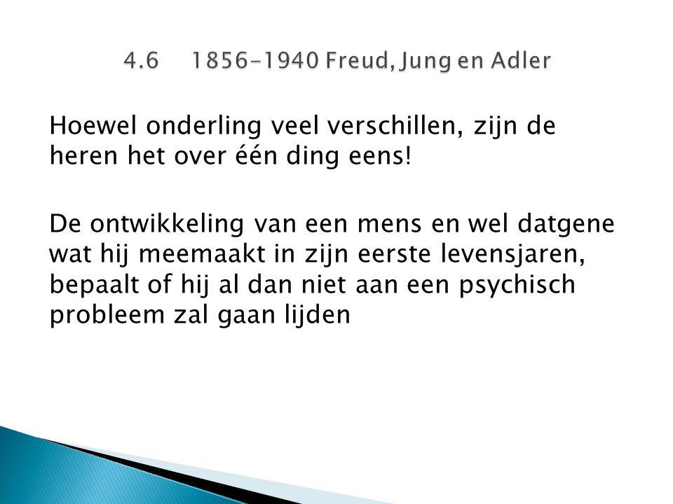 4.6 1856-1940 Freud, Jung en Adler