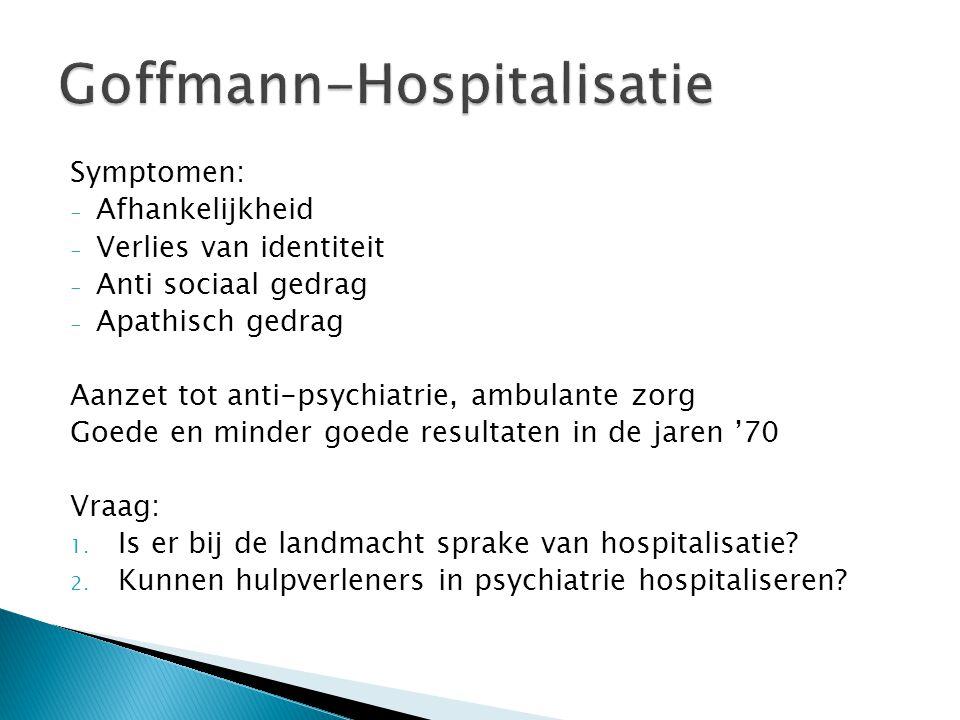 Goffmann-Hospitalisatie