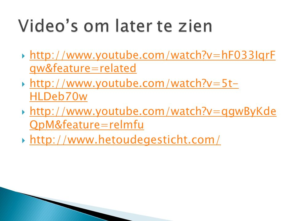 Video's om later te zien