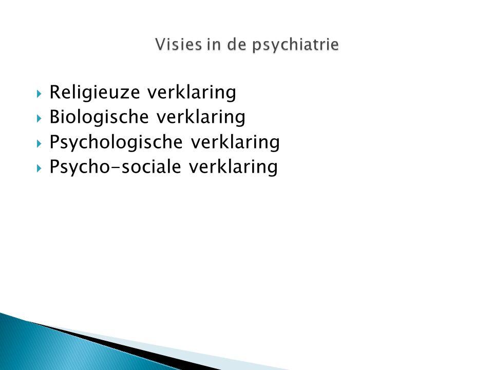 Visies in de psychiatrie