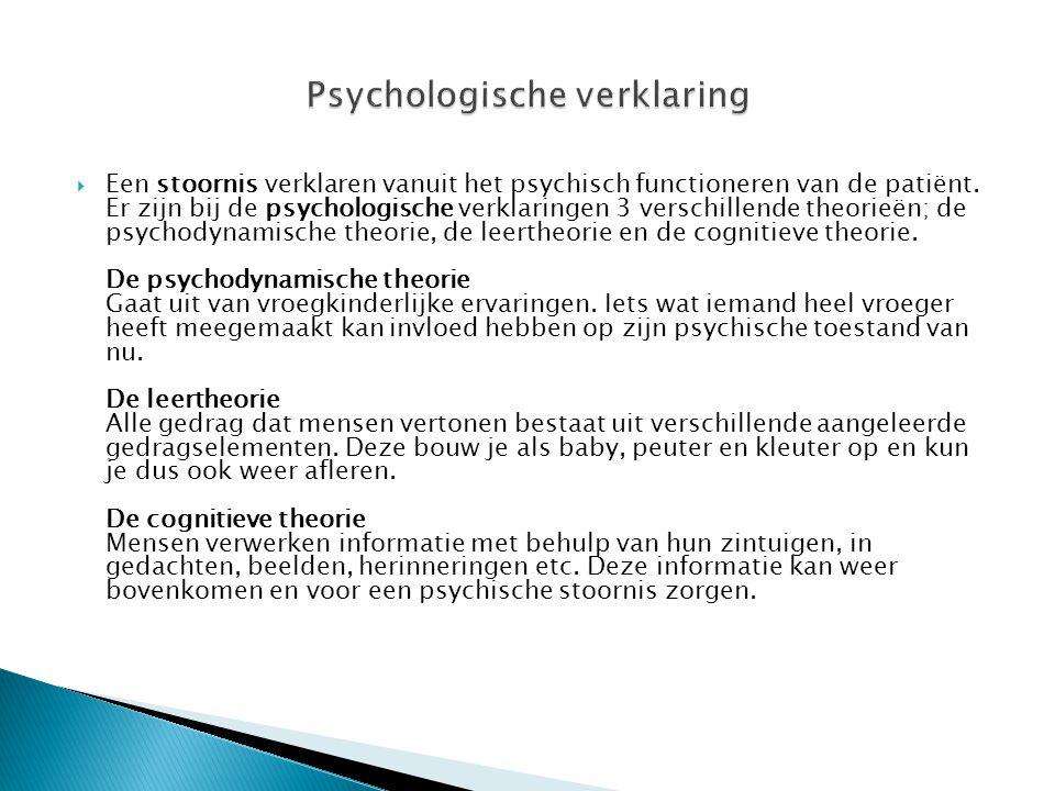 Psychologische verklaring