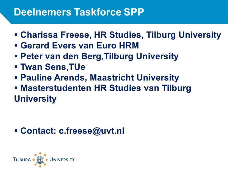 Deelnemers Taskforce SPP