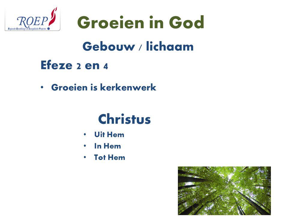 Groeien in God Christus Gebouw / lichaam Efeze 2 en 4