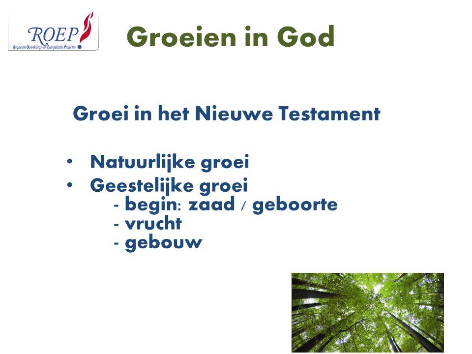 Groei in het Nieuwe Testament
