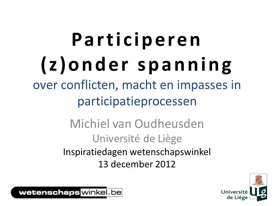 Participeren (z)onder spanning over conflicten, macht en impasses in participatieprocessen