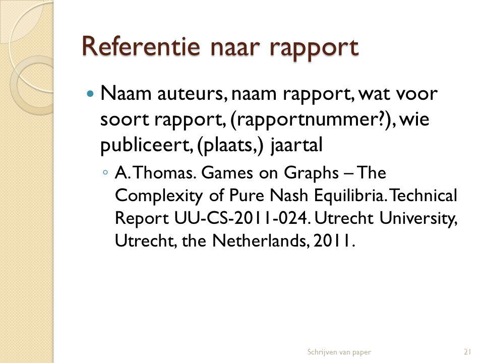 Referentie naar rapport