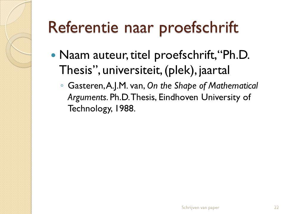 Referentie naar proefschrift