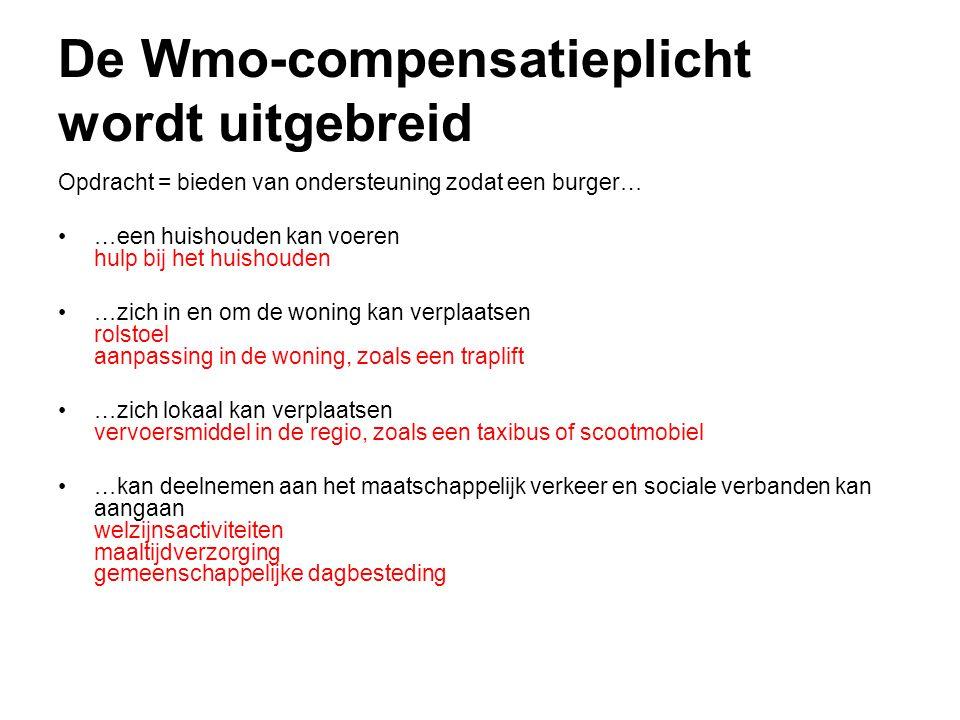 De Wmo-compensatieplicht wordt uitgebreid