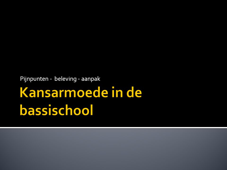 Kansarmoede in de bassischool