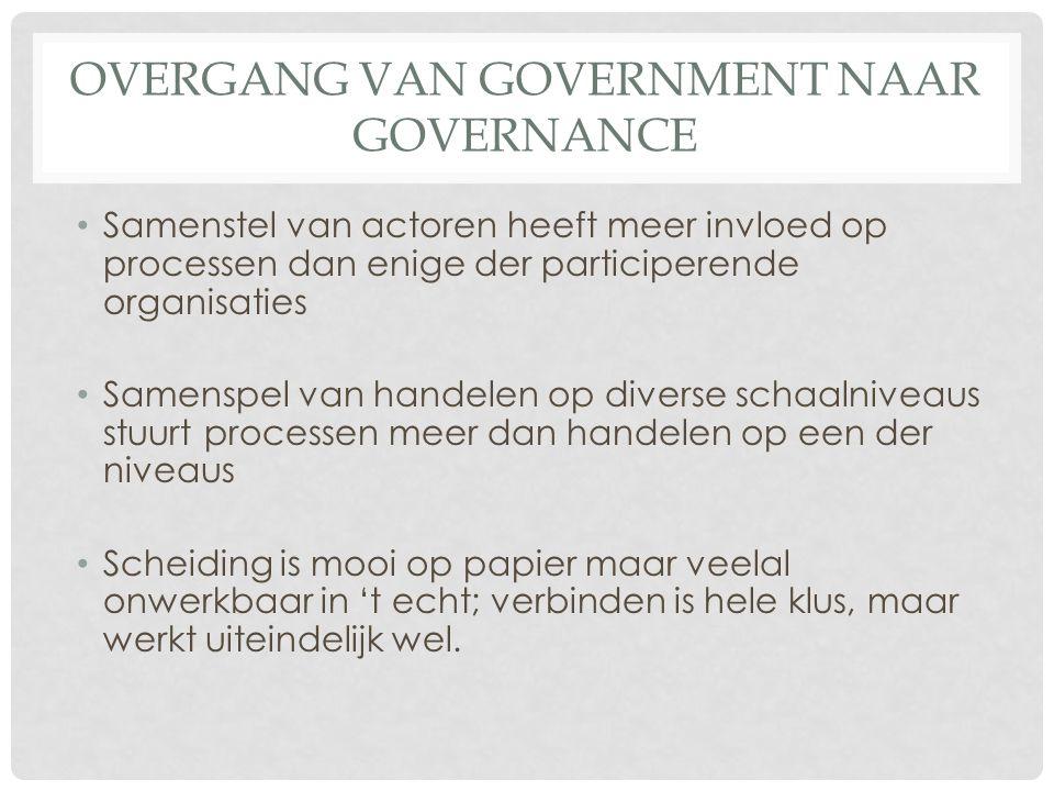overgang van Government naar Governance