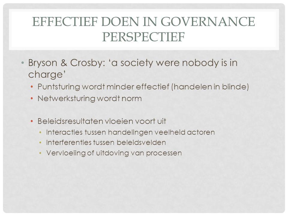 Effectief Doen in Governance perspectief