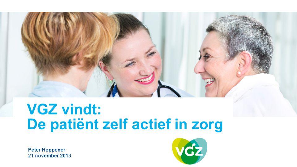 VGZ vindt: De patiënt zelf actief in zorg