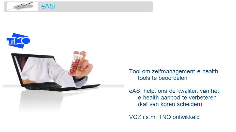 eASI Tool om zelfmanagement e-health tools te beoordelen