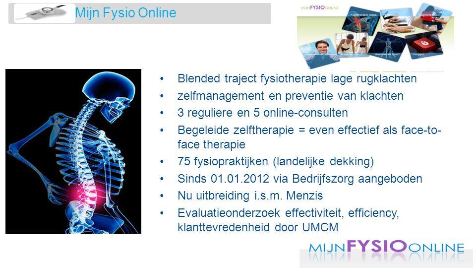Mijn Fysio Online Blended traject fysiotherapie lage rugklachten