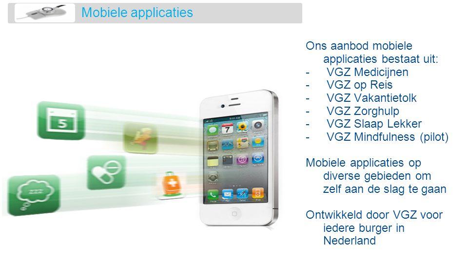 Mobiele applicaties Ons aanbod mobiele applicaties bestaat uit: