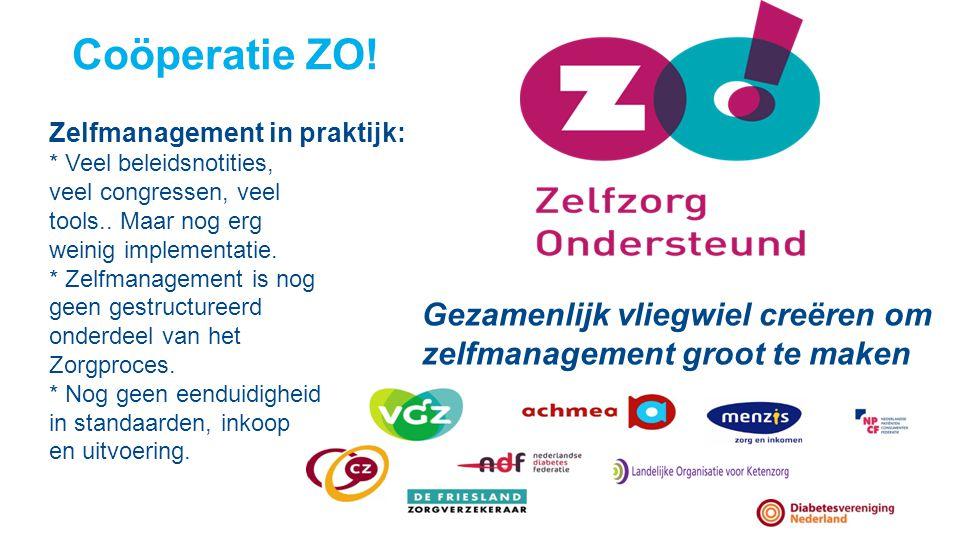 Coöperatie ZO! Zelfmanagement in praktijk: * Veel beleidsnotities, veel congressen, veel. tools.. Maar nog erg.