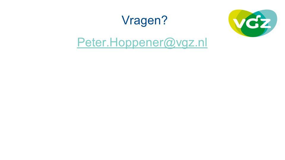 Vragen Peter.Hoppener@vgz.nl