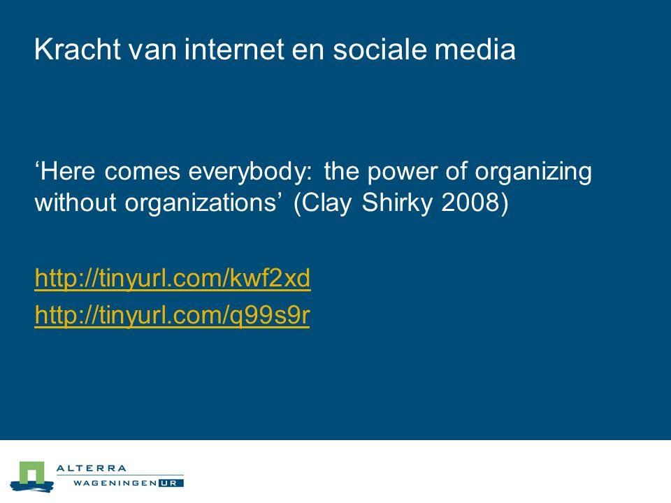 Kracht van internet en sociale media