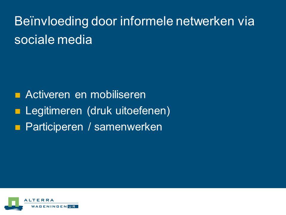 Beïnvloeding door informele netwerken via sociale media