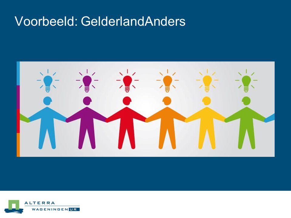Voorbeeld: GelderlandAnders