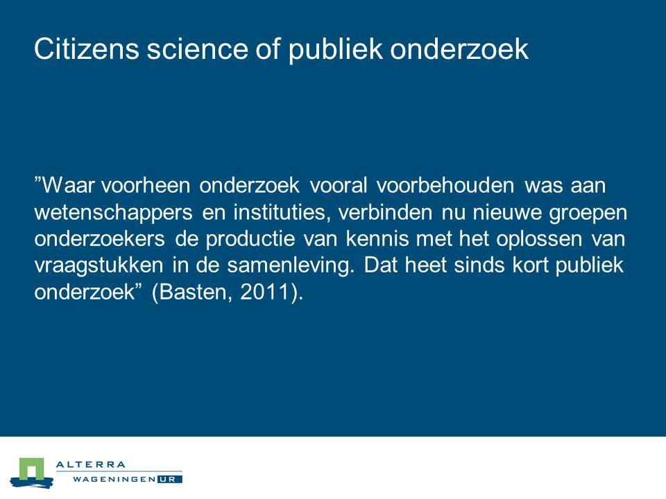Citizens science of publiek onderzoek