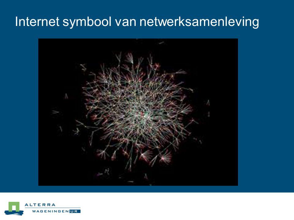 Internet symbool van netwerksamenleving