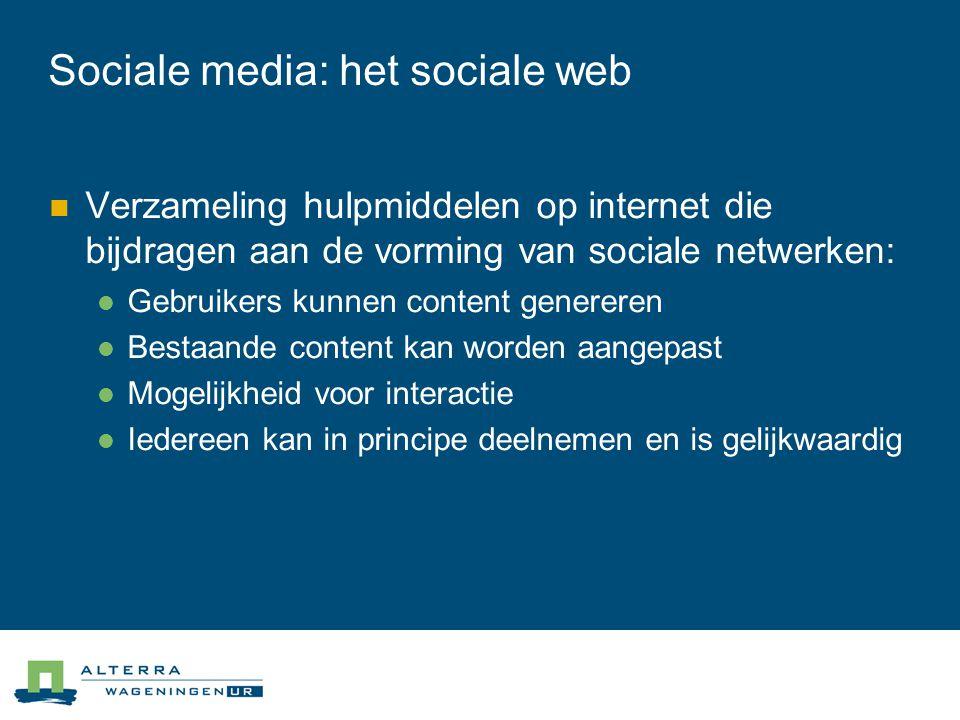 Sociale media: het sociale web