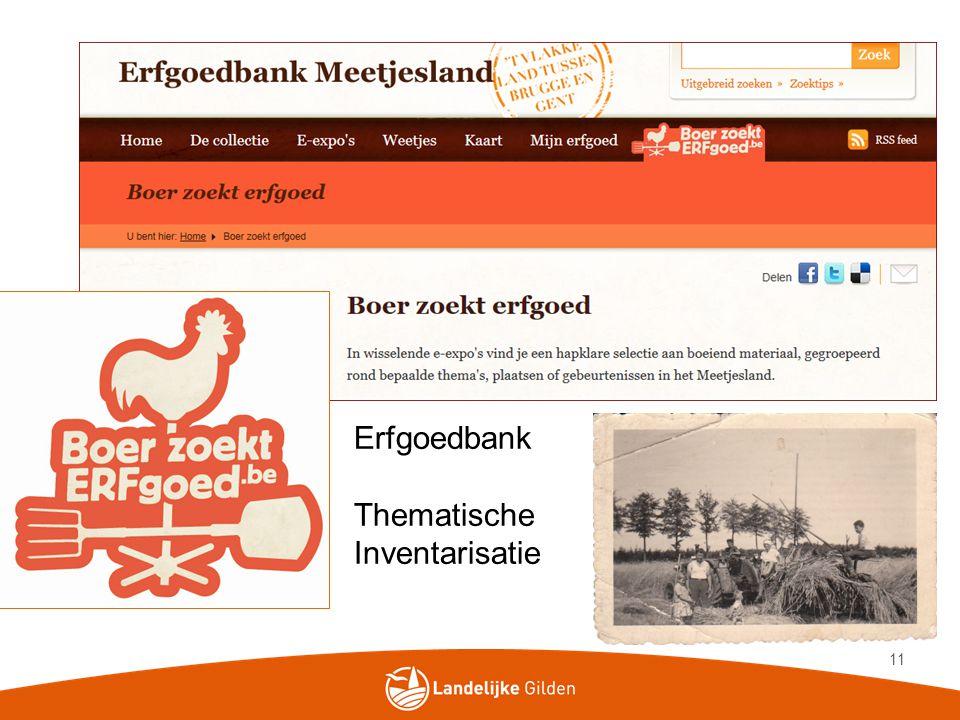 Erfgoedbank Thematische Inventarisatie