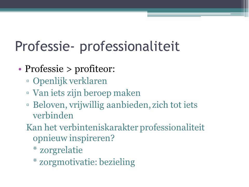 Professie- professionaliteit