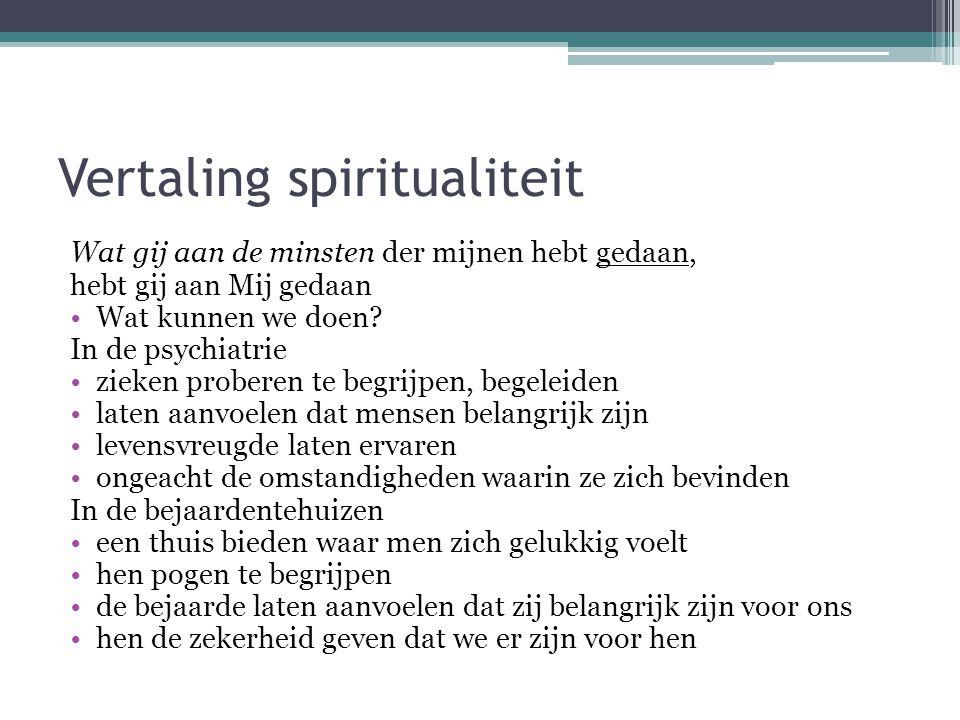 Vertaling spiritualiteit