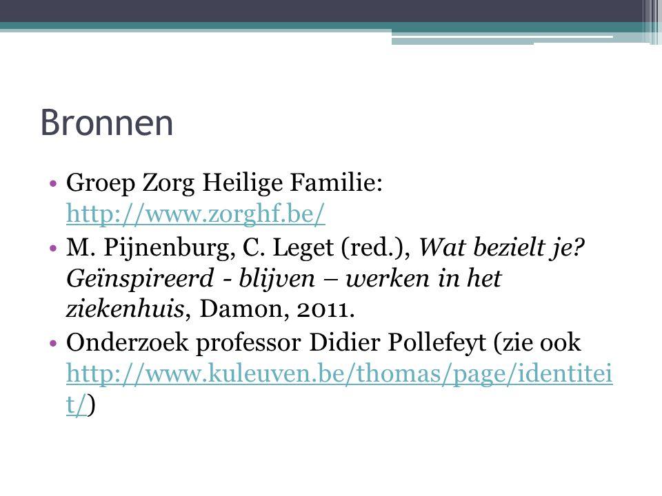 Bronnen Groep Zorg Heilige Familie: http://www.zorghf.be/