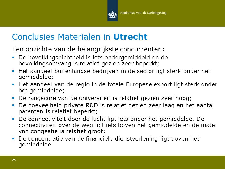 Conclusies Materialen in Utrecht