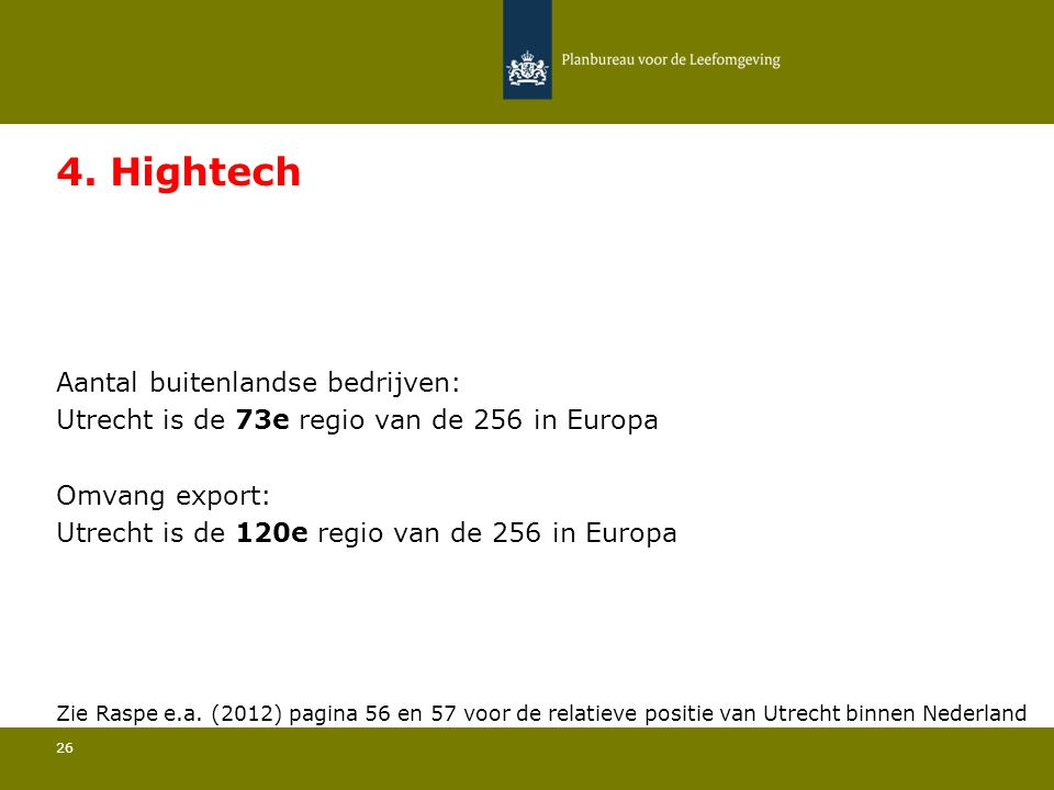 4. Hightech Utrecht is de 73e regio van de 256 in Europa