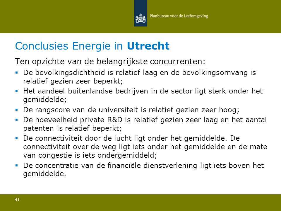 Conclusies Energie in Utrecht