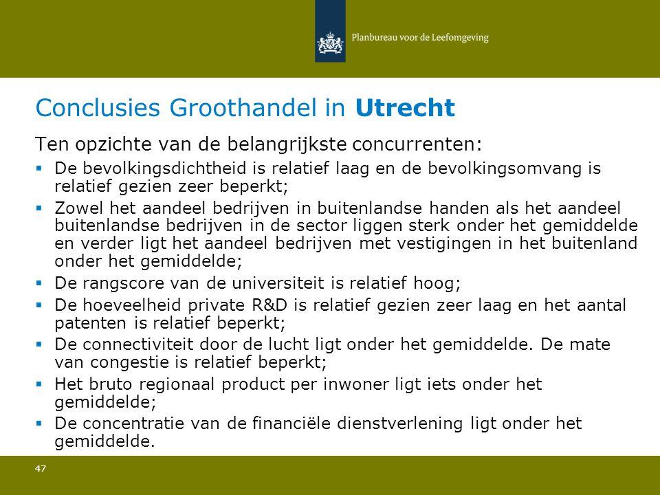 Conclusies Groothandel in Utrecht