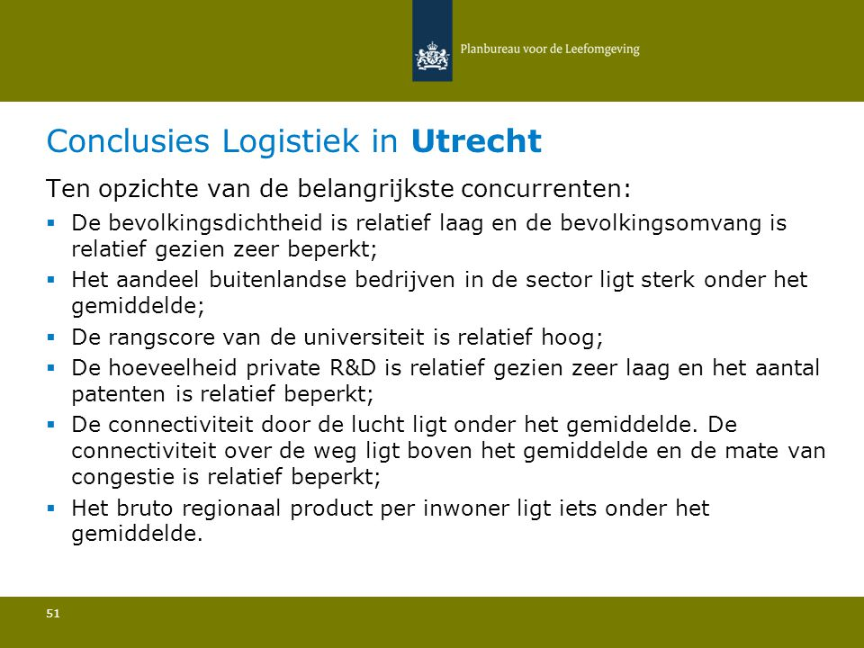 Conclusies Logistiek in Utrecht