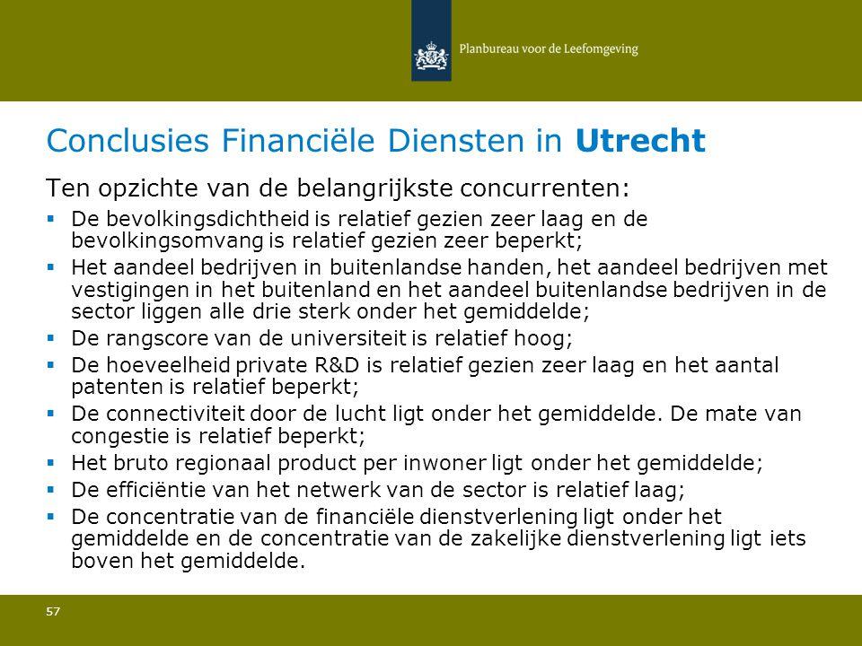 Conclusies Financiële Diensten in Utrecht