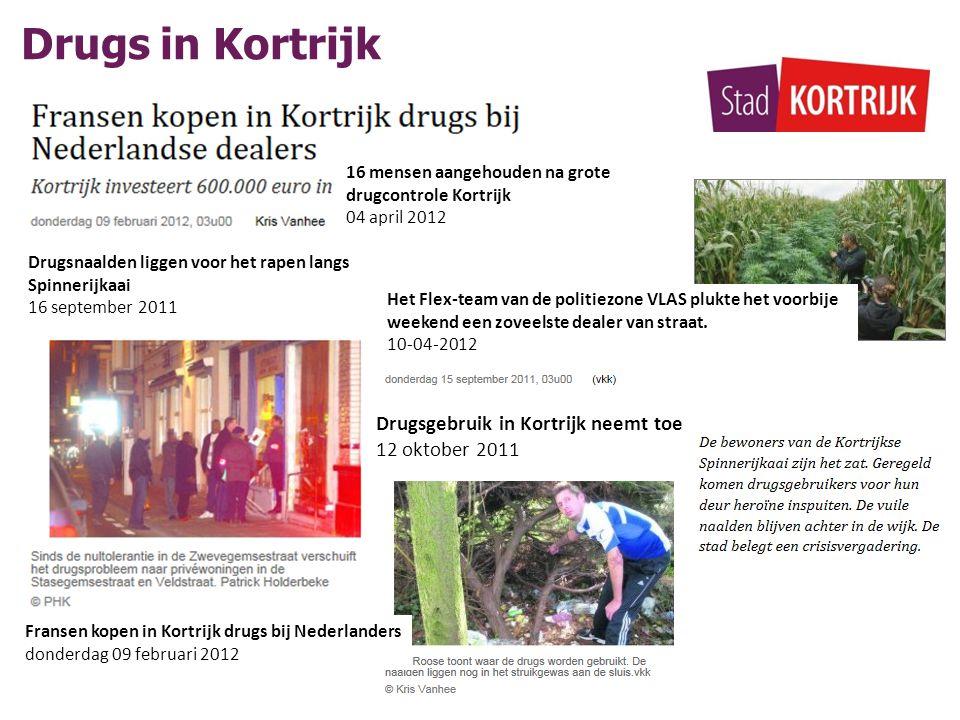 Drugs in Kortrijk Drugsgebruik in Kortrijk neemt toe 12 oktober 2011