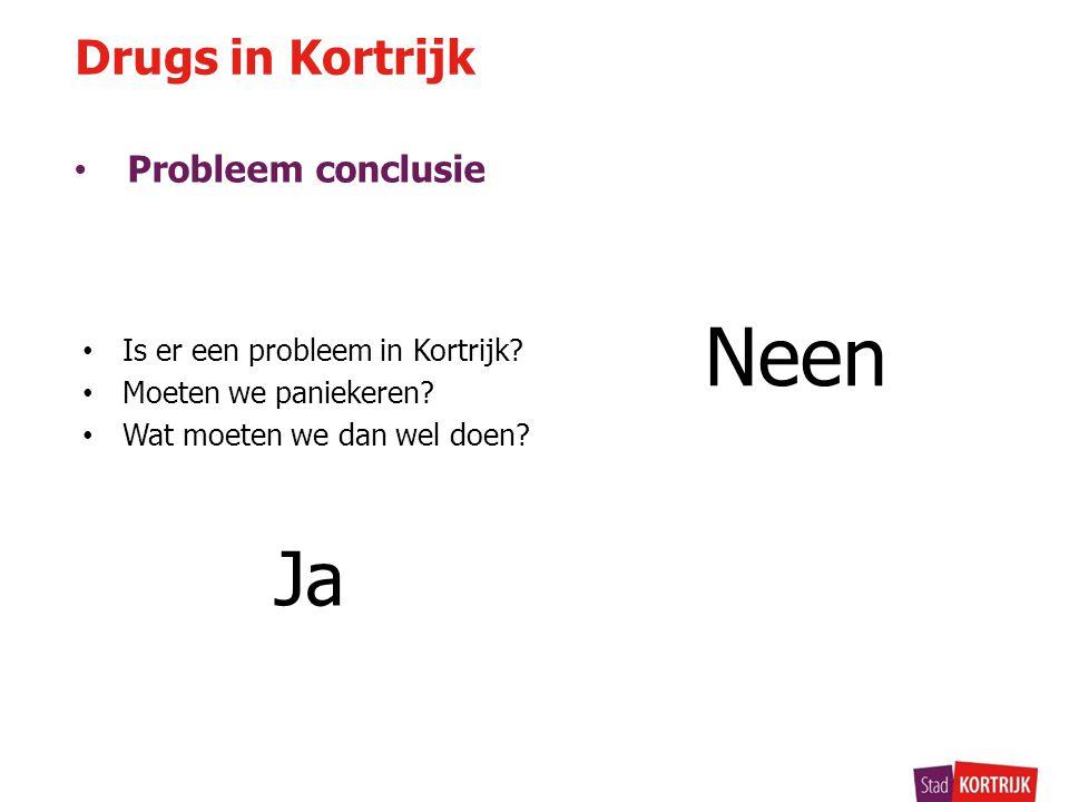 Neen Drugs in Kortrijk Probleem conclusie