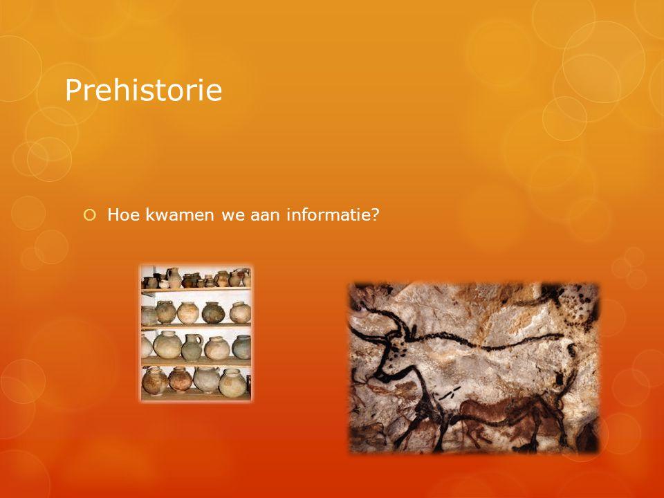 Prehistorie Hoe kwamen we aan informatie