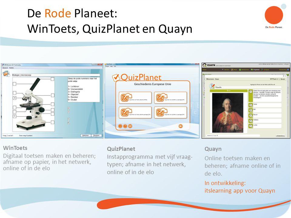 WinToets, QuizPlanet en Quayn