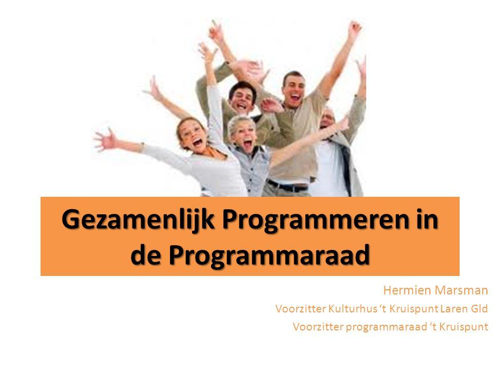 Gezamenlijk Programmeren in de Programmaraad