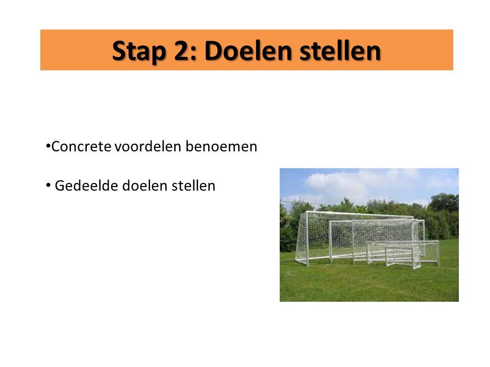 Stap 2: Doelen stellen Concrete voordelen benoemen