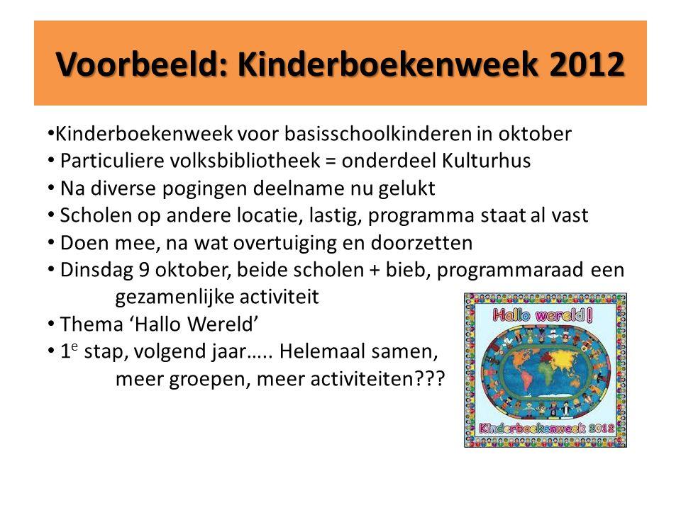 Voorbeeld: Kinderboekenweek 2012