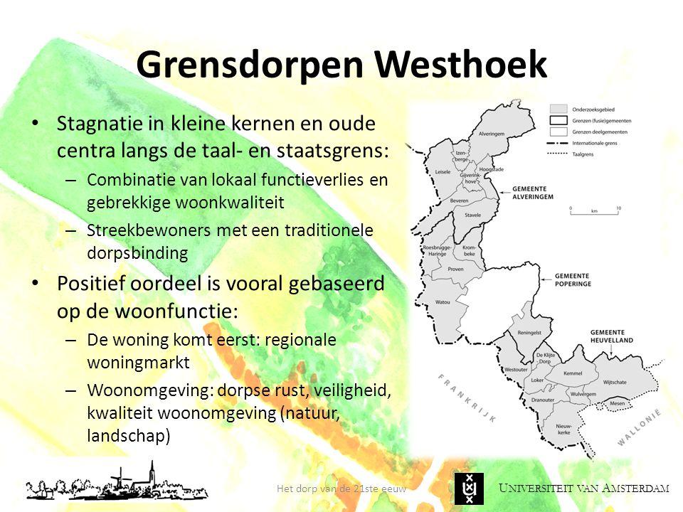 Grensdorpen Westhoek Stagnatie in kleine kernen en oude centra langs de taal- en staatsgrens:
