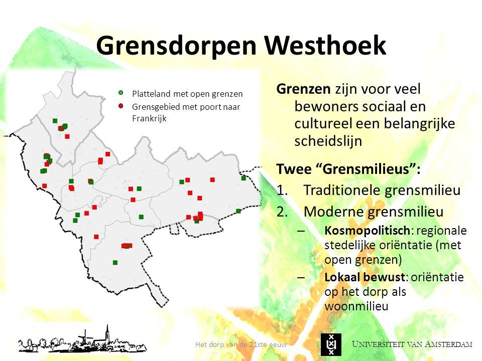 Grensdorpen Westhoek Grenzen zijn voor veel bewoners sociaal en cultureel een belangrijke scheidslijn.