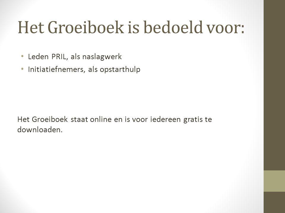 Het Groeiboek is bedoeld voor: