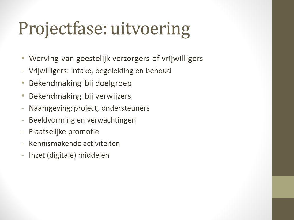 Projectfase: uitvoering