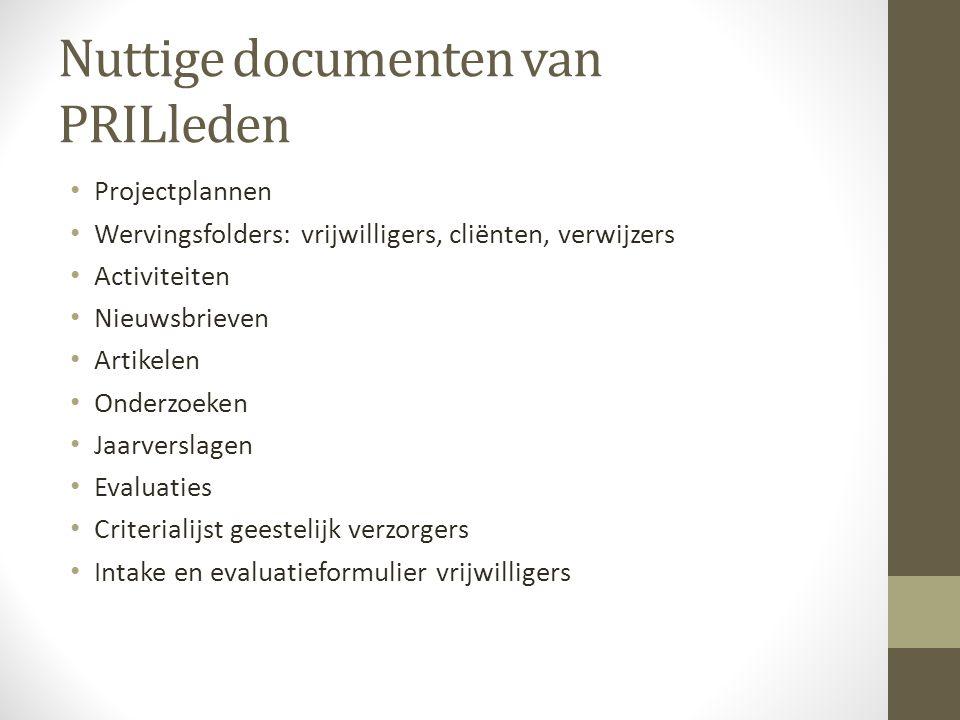 Nuttige documenten van PRILleden