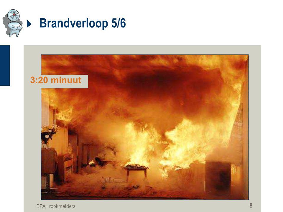 Brandverloop 5/6 3:20 minuut BPA - rookmelders